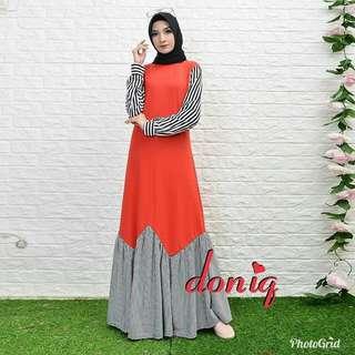 IKN - 0218 - Dress Busana Muslim Wanita Doniq