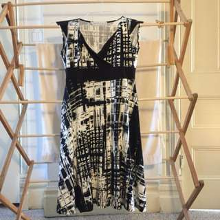 Black and white dress from Brenda Beddome