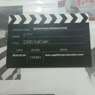 包郵 seventeen director's cut dino 名片