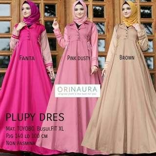IKN - 0218 - Dress Busana Muslim Wanita Plupy