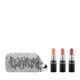 Authentic Mac snowball collection mini lipsticks