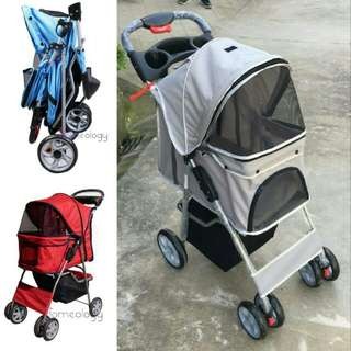 BN Pet Stroller 4 Wheel Foldable FREE DELIVERY
