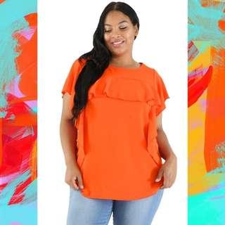 Plus Size Simple Summer Short Sleeve Blouse