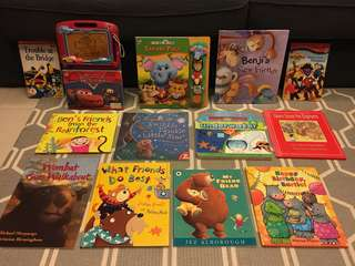 Bundle of animal story books for children (Disney, little tiger press, walker Books/ bear, cars, wipe clean activity book, LEGO etc)