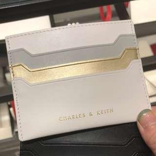 Charles & Keith card holder (白金)
