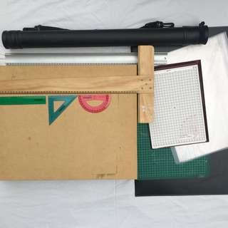Architecture tools/materials- drawing board, folio, etc.