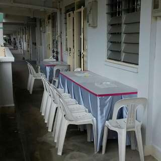 Mini Event Renting Chair , Table & Skirting
