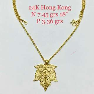 24k HK Gold Necklace for HER