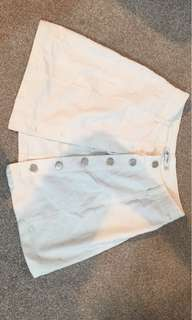 White button skirt size 8