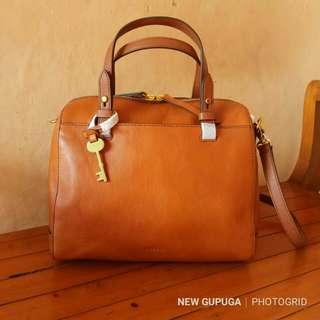 Fossil Rachel satchel leather vintage brown