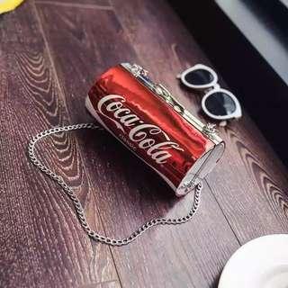 Coke sling chain bag