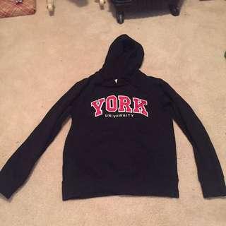 Women's York university hoodie