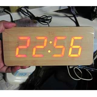 迪華【夜冷區】❤ 原木鐘 ❤ 電子鐘 鬧鐘 時間 時鐘