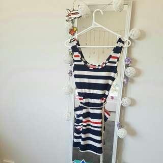 stripped bodycon dress ☆