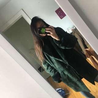 Genuine suede coat