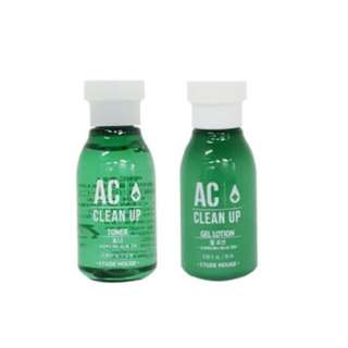 Etude House AC Clean up Toner + Lotion 15 ml