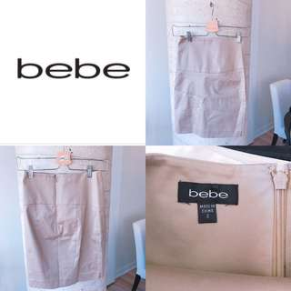 Bebe Size 2 Beige/champagne colour pencil skirt