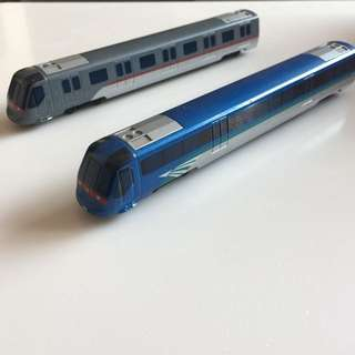 限量版 港鐵 東涌線列車迷你模型 機場快線列車迷你模型