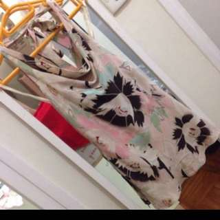 Printed silk top by coast size 8