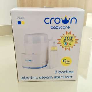 Crown 3 bottles electric steam sterilizer