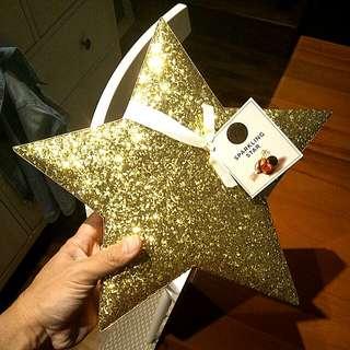 Glitter Gold Star Box