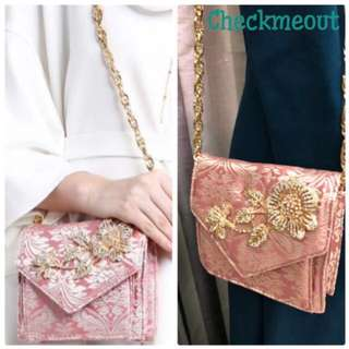 🛍Sewa|Rent 3 Hari🛍Zalia Brocade Brooch Bag