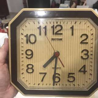 Vintage Rhythm Wall Clock - Original Old Engine
