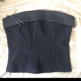 Bebe satin trimmed bustier top usa 6