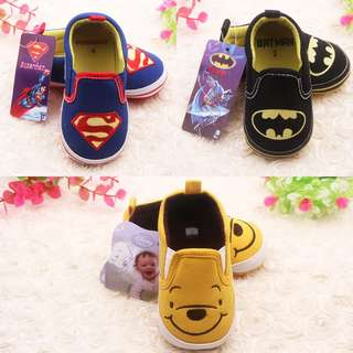 [PO] 2pair Kids Soft Cartoon Shoes Baby Boys Girls Prewalker Shoes
