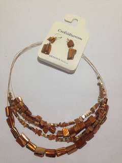 Croft & Barrow Necklace & Earring Set