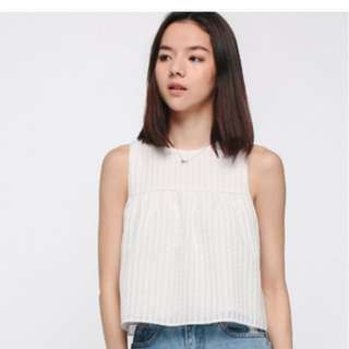 Love Bonito Kaysia Texture Ruffle Back Top