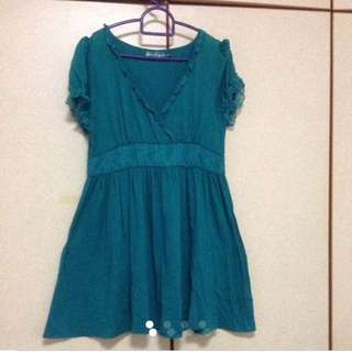 $89 Turquoise V-Neck Flare Dress From London (Brand New)