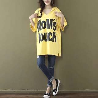 Mom's Touch  Hoody Loose T-Shirt Free Size (120-200pounds)