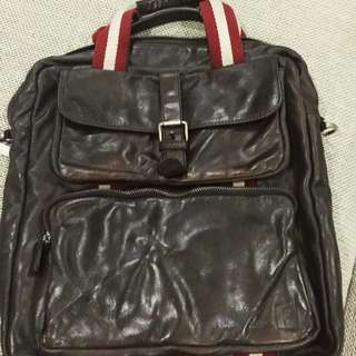 Authentic Leather Bally Laptop Bag