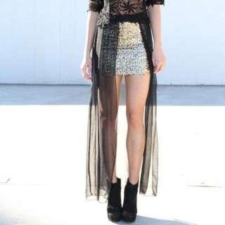 Sabo skirt princess polly festival sequin mesh skirt