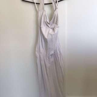 Halter neck white dress