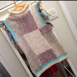 Creative designer sequinned sweater