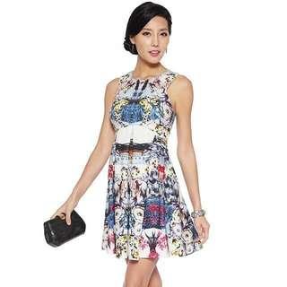 Love Bonito, LB petite firenze neoprene dress
