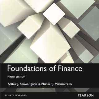 Foundations of Finance 9th Edition BFF1001