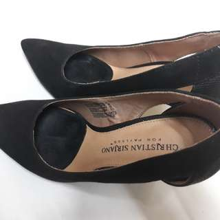 Orig Christian Siriano Black Office Shoes