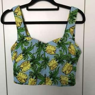 Pineapple Print Top