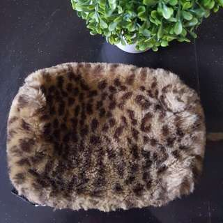 Furry make-up pouch