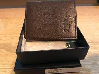 全新 Ralph Lauren Coins Bag 散銀包 (深啡色) 《包順豐》