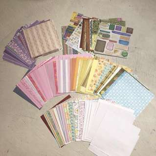 HUNDRED+ sheets of scrapbooking paper and die cuts