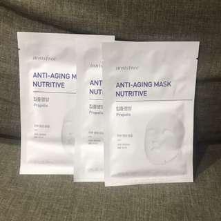 Innisfree Anti-aging masks (Propolis)