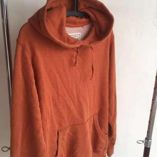 Uniqlo Authentic Original Wash for Comfort Orange Hoodie