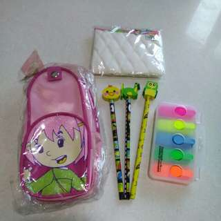 Girls stationary set