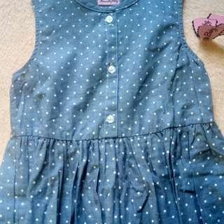 BNWT Girls' Polka dot dress