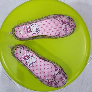 For Sale - Hello Kitty Shoes. Worn once at home, selling because kid's size can't fit as it was a gift