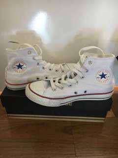 Converse classic white high-tops (youths)